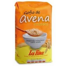 Gofio La Piña - Gofio de Avena ecologico Bio Gofio Hafermehl geröstet 450g hergestellt auf Gran Canaria - LAGERWARE MHD: 10.02.2021