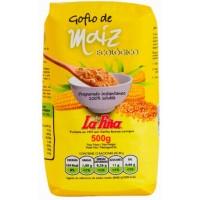 Gofio La Piña - Gofio de Maiz Ecologico geröstetes Bio Mais-Mehl 500g hergestellt auf Gran Canaria - LAGERWARE MHD: 12.04.2020