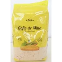 Gofio Miraflor - Gofio de Millo Tueste ligero Maismehl geröstet 1kg hergestellt auf Gran Canaria