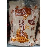 Molinos el Guanche - Gofio de Mezcla Maiz Trigo Avena y Cebada Mehl gemischt geröstet 500g Tüte hergestellt auf La Palma