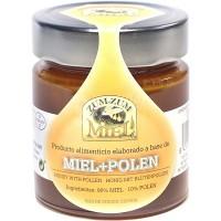 Zum-Zum Miel - Miel + Polen Bienenhonig mit Pollen Glas 340g hergestellt auf Teneriffa