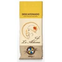 Cafe la Aldeana - Cafe Molido Natural Descafeinado Röstkaffee entkoffeiniert 200g Tüte angebaut auf Gran Canaria