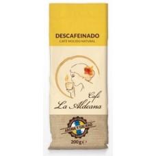Cafe la Aldeana - Cafe Molido Natural Descafeinado Röstkaffee entkoffeiniert 200g Tüte angebaut auf Gran Canaria - LAGERWARE
