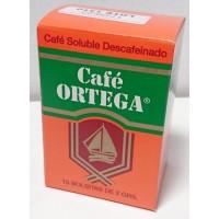Cafe Ortega - Cafe Soluble Descafeinado Instant-Kaffee entkoffeiniert 2gx10 Portionen 20g hergestellt auf Gran Canaria