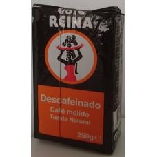 Cafe Reina - Tueste Natural Cafe Descafeinado Kaffee gemahlen entkoffeiniert 250g hergestellt auf Teneriffa - LAGERWARE
