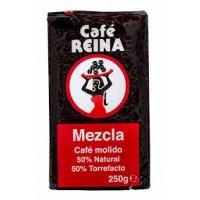 Cafe Reina - Mezcla Molido 50% Tueste Natural 50% Torrefacto Röstkaffee gemahlen 250g hergestellt auf Teneriffa