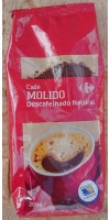 Carrefour - Cafe Molido Natural Descafeinado Röstkaffee gemahlen entkoffeiniert 200g Tüte hergestellt auf Gran Canaria - LAGERWARE