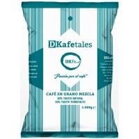 DKafetales - Cafe en Grano Mezcla 50% Tueste natural 50% Tueste Torrefacto gerösteter Bohnenkaffee 1kg hergestellt auf Gran Canaria