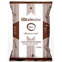 DKafetales - Cafe en Grano Tueste Natural gerösteter Bohnenkaffee 1kg hergestellt auf Gran Canaria