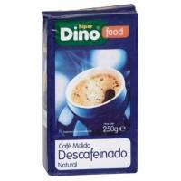 DinoFood - Cafe Molido Descafeinado De Tueste Natural Röstkaffee gemahlen entkoffeiniert 250g hergestellt auf Gran Canaria