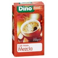 DinoFood - Cafe Molido Mezcla Natural Röstkaffee gemahlen gemischt 250g hergestellt auf Gran Canaria