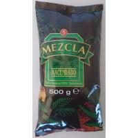 Hacendado - Cafe Molido Mezcla 50% Natural 50% Torrefacto Nr. 5 Kaffee gemahlen 500g Tüte hergestellt auf Teneriffa