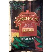 Hacendado - Cafe Molido Torrefacto Nr. 5 Röstkaffee gemahlen 250g Tüte hergestellt auf Teneriffa