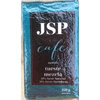 JSP - Cafe Molido Mezcla 50/50 Tueste Natural & Tueste Torrefacto Karton 250g hergestellt auf Teneriffa