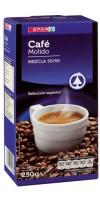 Spar - Cafe Molido Mezcla 50/50 Röstkaffee gemahlen 250g hergestellt auf Teneriffa