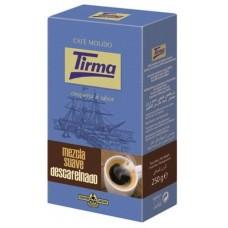 Tirma - Café Mezcla Suave Descafeinado Röstkaffee gemahlen entkoffeiniert 250g hergestellt auf Gran Canaria - LAGERWARE