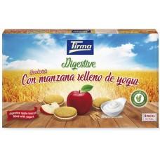 Tirma - Digestive Sandwich con manzana relleno de yogur Doppelkekse mit Apfelcreme 4x2x45g 391g hergestellt auf Gran Canaria - LAGERWARE