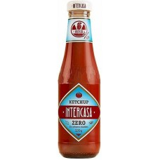 Intercasa - Ketchup Zero sin azucar anadidos ohne Zuckerzusatz Glasflasche 320g hergestellt auf Gran Canaria - LAGERWARE MHD: 12.02.2021