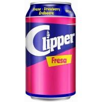 Clipper - Fresa Erdbeer-Limonade 6x 330ml Dose hergestellt auf Gran Canaria