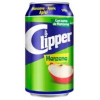 Clipper - Manzana Apfelschorle 10% Fruchtsaftanteil Dose 330ml hergestellt auf Gran Canaria