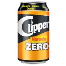 Clipper - Naranja Zero Orange Limonade zuckerfrei 7x 330ml Dose hergestellt auf Gran Canaria - LAGERWARE MHD: 18.09.2020