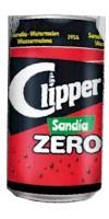 Clipper - Sandia Zero Wassermelonen-Limonade zuckerfrei 8x 330ml Dose hergestellt auf Gran Canaria - LAGERWARE
