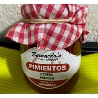 Bernardo's Mermeladas - Crema de Pimiento Paprika-Creme Aufstrich Marmelade 240g hergestellt auf Lanzarote