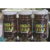 Finca La Laja - Mermelada de Cafe y Manzana Kaffee-Marmelade auf Apfelbasis 3x 100g Glas hergestellt auf Gran Canaria