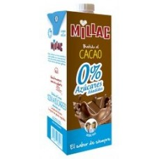 Millac - Leche 0% Azucares Batida al Cacao Schokomilch zuckerfrei 1l Tetrapack hergestellt auf Gran Canaria