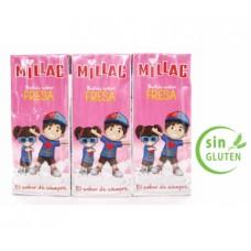Millac - Leche Batida con Fresa Erdbeermilch 10x 3er-Pack 30x 200ml hergestellt auf Gran Canaria