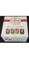 El Masapè - Mojos Gomeros Rojo, Verde, Miel de Palma, Almogrote 4x40g Set hergestellt auf La Gomera - LAGERWARE