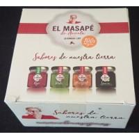 El Masapè - Mojos Gomeros Rojo, Verde, Miel de Palma, Almogrote 4x40g Set hergestellt auf La Gomera