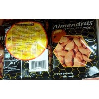Hermach - Almendras fritas con miel Mandeln frittiert mit Honig 40g hergestellt auf Gran Canaria