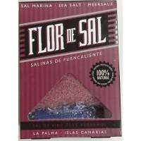 Salinas de Fuencaliente - Flor de Sal Vino Zeus Negramoll kanarisches Aroma-Meersalz Rotwein 120g hergestellt auf La Palma