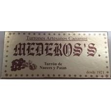 Mederos's - Turron de Nueces y Pasas Nougatriegel mit Nüsse und Rosinen 300g hergestellt auf Gran Canaria - LAGERWARE