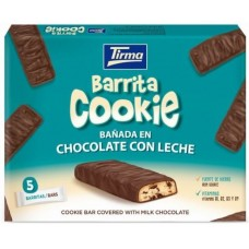 Tirma - Barrita Cookie Banada en Chocolate con Leche Schokoriegel 5x 21,6g hergestellt auf Gran Canaria - LAGERWARE