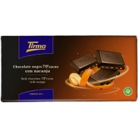 Tirma - Chocolate Negro 70% Cacao con Naranja dunkle Tafelschokolade mit Orange 125g hergestellt auf Gran Canaria