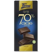 Tirma - Chocolate Negro 70% Cacao dunkle Schokolade 125g hergestellt auf Gran Canaria