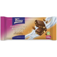 Tirma - Chocolate con Leche Almendras enteras Nussschokolade 170g hergestellt auf Gran Canaria
