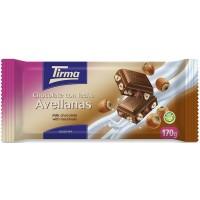 Tirma - Chocolate con Leche Avellanas Vollmilchschokolade Haselnuss 170g hergestellt auf Gran Canaria
