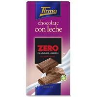 Tirma - Chocolate con Leche ZERO sin azucar Vollmilchschokolade zuckerfrei 125g Tafel hergestellt auf Gran Canaria