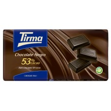 Tirma - Chocolate Negro 53% Cacao dunkle Schokolade Tafel 150g hergestellt auf Gran Canaria