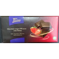 Tirma - Chocolate Negro 70% Cacao con Fresa dunkle Tafelschokolade mit Erdbeeren 125g hergestellt auf Gran Canaria