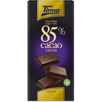 Tirma - Chocolate Negro 85% Cacao dunkle Schokolade 125g hergestellt auf Gran Canaria
