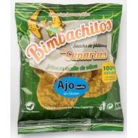Bimbachitos de Canarias - Ajo Garlic Bananenchips mit Knoblauch 90g hergestellt auf El Hierro - LAGERWARE - MHD: 07.01.2021