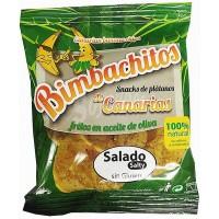 Bimbachitos de Canarias - Salado Salty Bananenchips leicht gesalzen 90g hergestellt auf El Hierro