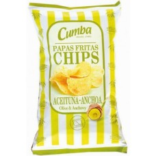 Cumba - Chips Papas Fritas Sabor Aceitunas & Anchos 37g hergestellt auf Gran Canaria