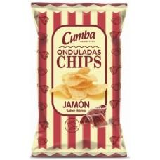 Cumba - Onduladas Chips Papas Fritas Jamon Sabor Iberica 37g hergestellt auf Gran Canaria