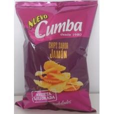 Cumba - Chips Sabor Jamon Onduladas Kartoffelchips geriffelt Schinkenaroma 150g hergestellt auf Gran Canaria
