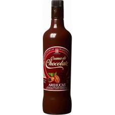 Arehucas - Licor Crema de Chocolate Schokolikör 17% Vol. 700ml hergestellt auf Gran Canaria - LAGERWARE